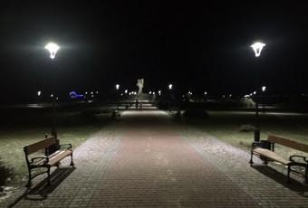 Освітлення парку імені Тараса Шевченка в м. Ковель