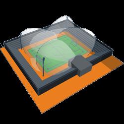 Для спортивних споруд та великих просторів(прожектори)